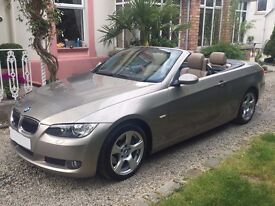 BMW 325i SE petrol Convertible 3.0, 2007 in Metallic Platinum Bronze with Luxury Nappa leather.