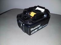 MAKITA 18v LXT LI-ION BL1850b (5AH) (BATTERY GAUGE) battery,(used)