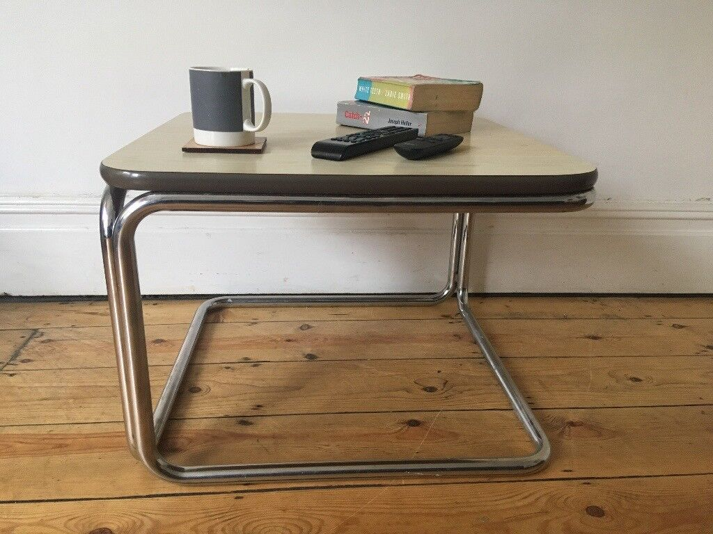 Mid Century Retro Chrome Formica Coffee Table 1960s 1970s
