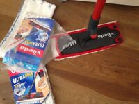 Vileda 1-2 Sray Mop With 3 New Cleaning Pads