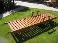 Solid wood Garden Sun Lounger