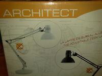 **** BNIB **** ALBA ARCHITECT DESK LAMP, WHITE (ARCHI BC) & 14 DAY MONEY BACK GUARANTEE