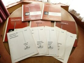 Vintage 1962 Vauxhall Series FB Service training Manuals
