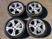 "MVK 15"" Chrome Alloy Wheels with tyres 4x100 PCD - Honda etc"