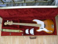 CUSTOM LEFT HANDED JAPAN FENDER TELECASTER BASS.