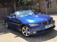 2007 BMW 3 SERIES 325I 3.0 AUTOMATIC PETROL CONVERTIBLE BLUE MOT I DRIVE SAT NAV NOT COUPE 6 320 325