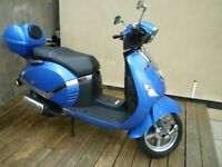 Lambretta 151 N, 125cc in Blue, 00.9 kilos, may take px Inc cash