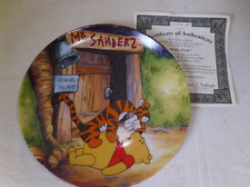"""Set of 8 Whinnie the pooh collectors plates,""""FUN IN 100 ACRE WOOD"""""""
