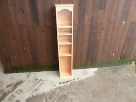 Tall Wood CD or DVD Rack Delivery Available