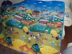 Double sided farm and car mat