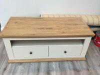 Oak and Cream Coffee table