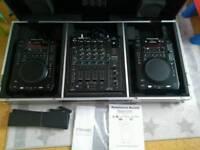 Reloop rmx80 + american audio radius 3000 in gorilla case