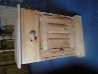 Solid pine bedside