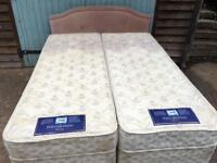 Sealy Posturepedic Zip & Link twin / king beds; ideal Airbnb. Great condition. Can deliver