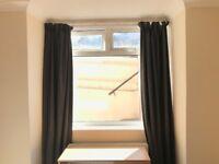 Dark Grey John Lewis Curtains (BLACKOUT)