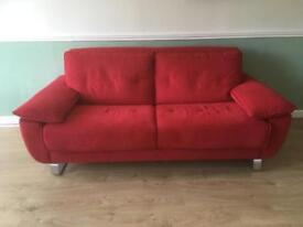 DFS Fling Sofa Bed Good as New - Red - As New