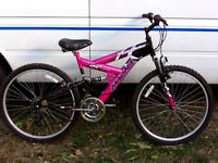 LADIES /TALL GIRLS FULL SUSPENSION MOUNTAIN BIKE FULLY SERVICED