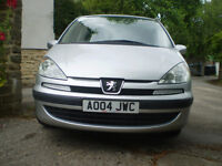 2004 PEUGEOT 807 petrol, manual, silver, good condition and low mileage at only 65,000 miles