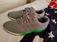 Adidas flux green and grey