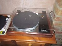 Linn LP12 Turntable Afromosia Fluted 30996 Clear Lid No Power supply or arm/cartridge WILL POST
