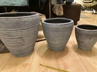 Grey terracotta pot -large