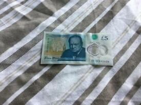 AA18 £5 note