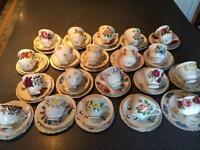 20 Vintage china cups, saucers & tea plates.
