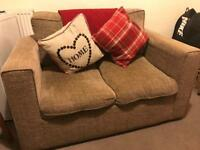 Two Seater Sofa & Matching Armchair