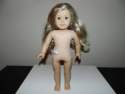 Authentic American Girl Doll Blonde Hair Freckles Pierced Ears