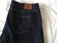 Crew straight regular jeans size 16