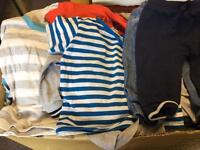 Box of Baby Boy 3-6 month clothes