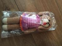 World trade organisation knitted soft toy rattle