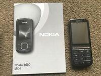 Nokia 3600 Slide mobile phone