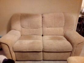 2x2 large electric reclining sofas