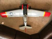 Radio control Texan electric model plane.