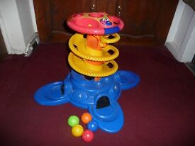 Fisher Price ball blaster tower complete with all five balls