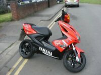 yamaha areox qy 50cc scootor , mot till 15th january , rides spot on , nice nippy little bike