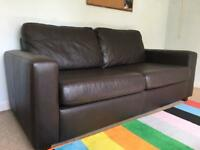 Sofa Workshop Chocolate Leather Sofa Bed rrp £1,140