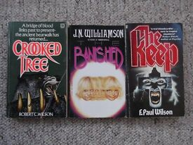3 horror novels - The Keep-F. Paul Wilson, Banished-J.N.Williamson & Crooked Tree- Robert C.Wilson