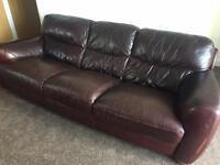 Sofitalia Italian leather luxury Grand 3&2 seater sofas dark brown. FREE DELIVERY TODAY