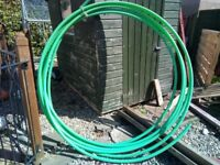 Green plastic tubing for sale