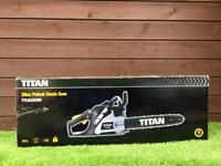 TITAN PETROL CHAINSAW. BRAND NEW IN BOX