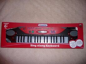 New Sing Along Keyboard with record and playback feature, and the microphone