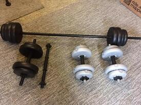 Dumbell and Barbell Bars and Weights