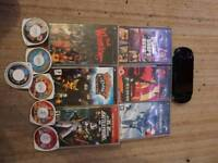 Sony psp console and games