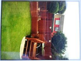 Second hand Timber decking for sale, picture shows original layout