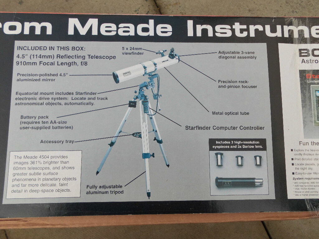 Meade digital go to telescope in hedge end hampshire gumtree