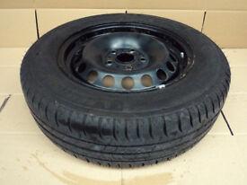 "VW Golf MK6 MK7 Seat LEON 15"" Steel Spare Wheel with MICHELIN ENERGY TYRE 195/65 R15 ET43 6Jx15"