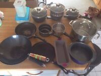 pans, pots and accessories