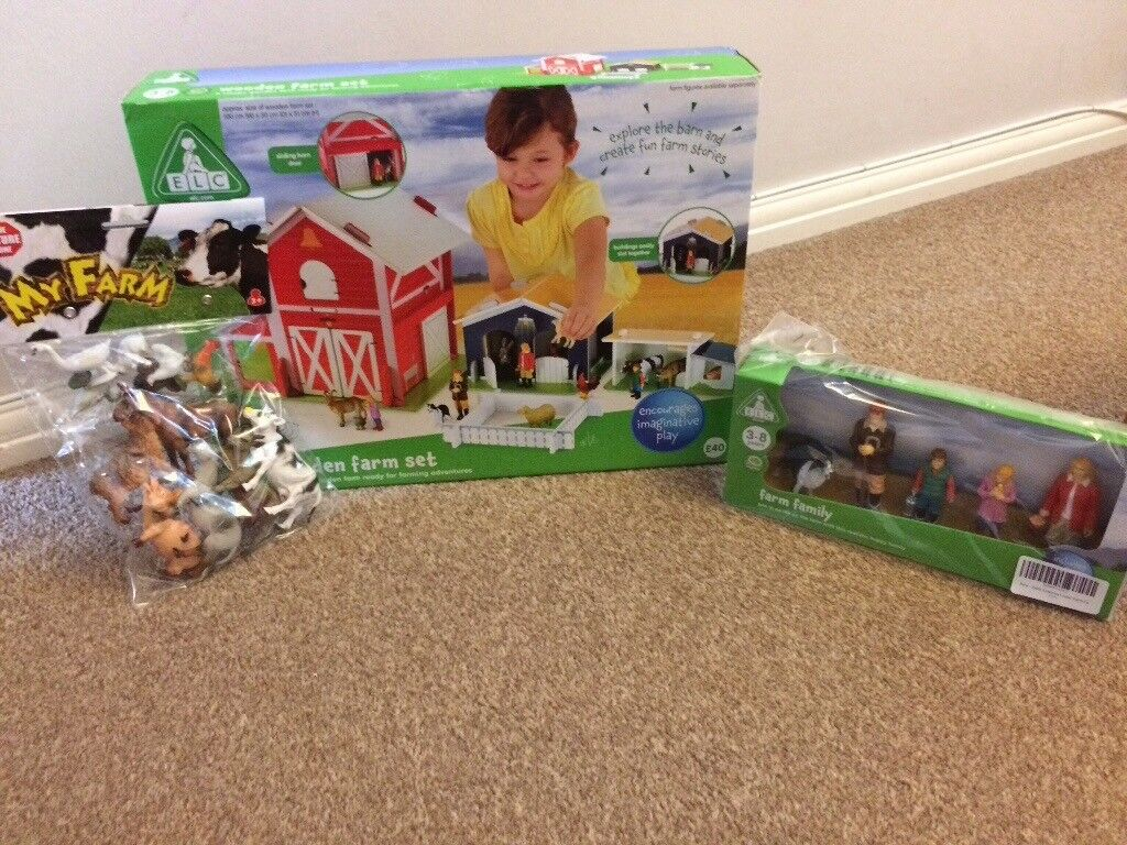 Early Learning Centre wooden farm set with animal and people ...